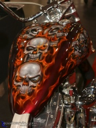 2008 Easyriders Show - Flaming Skulls Tank