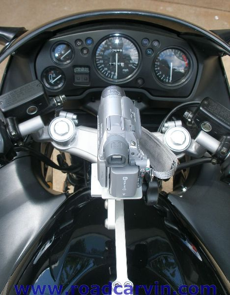 SportBikeCam Front Mount - View From The Pilot's Seat