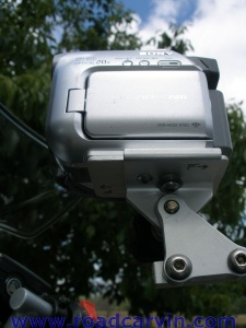 SportBikeCam Front Mount - mounted - side view - closeup