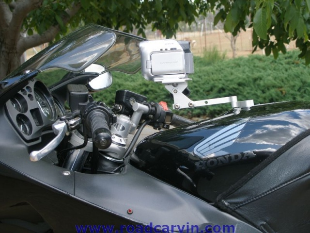 SportBikeCam Front Mount - Mounted - side view
