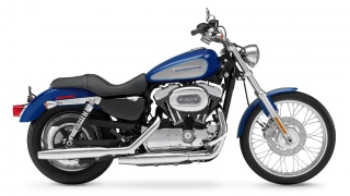 2009 Harley-Davidson - XL1200C Sportster: XL1200C Sportster with retuned suspension and new front fender.
