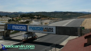 Laguna Seca - A Look Back - Start/Finish Now: Current view of Start/Finish at Mazda Laguna Seca Raceway looking towards turn 1.