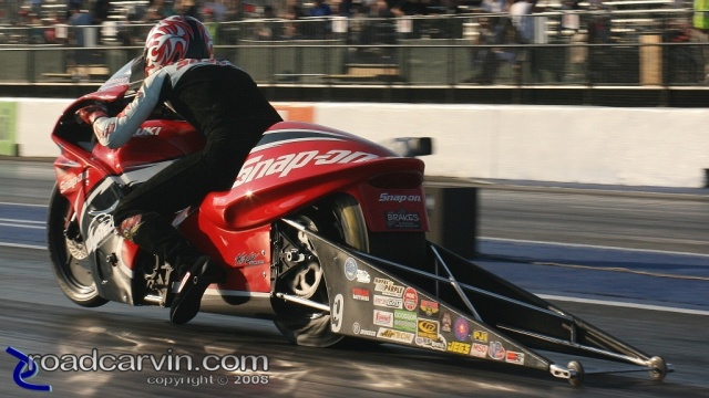 2008 Infineon NHRA - Steve Johnson - Riding Into The Sunset