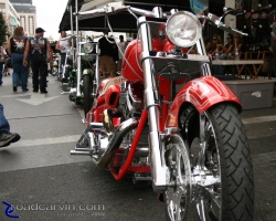 Ron Simms customs: Ron Simms bikes on display at Street Vibrations 2008 in Reno