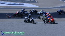 2007 Red Bull U.S. Grand Prix - AMA Superbike Start - Crash