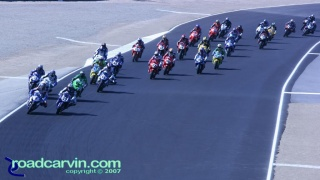 2007 Red Bull U.S. Grand Prix - AMA Superbike Start: Start of the AMA Superbike race at Mazda Raceway Laguna Seca.