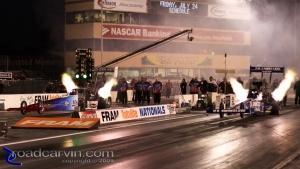 2009 Fram Autolite NHRA Nationals - JR Todd and Spencer Massey - Wheelie