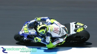 2007 Red Bull U.S. Grand Prix MotoGP - Valentino Rossi: The Doctor at work.