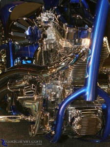2008 Easyriders Show - Blue and Chrome Chopper