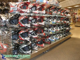 Cover your head: Large selection of helmets to fit any head, even yours.