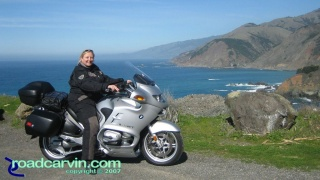 NorthStar Moto Tours - South Coast HWY 1: Looking North towards Bixby Bridge and Rocky Point.