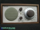 Model One by Henry Kloss - Classic Beige/Walnut: Original Model One by Henry Kloss. Newer models have an Off/FM/AM/Aux selector.