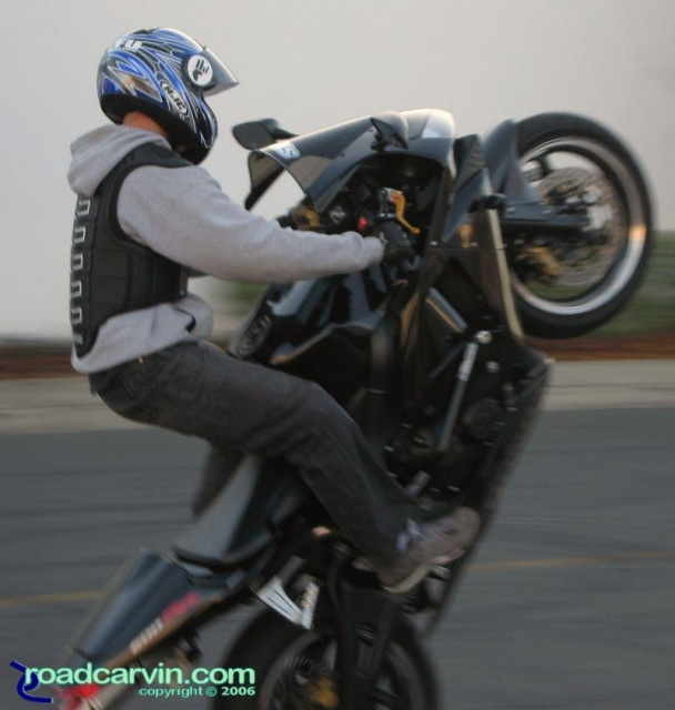 CBR600RR Wheelie Closeup