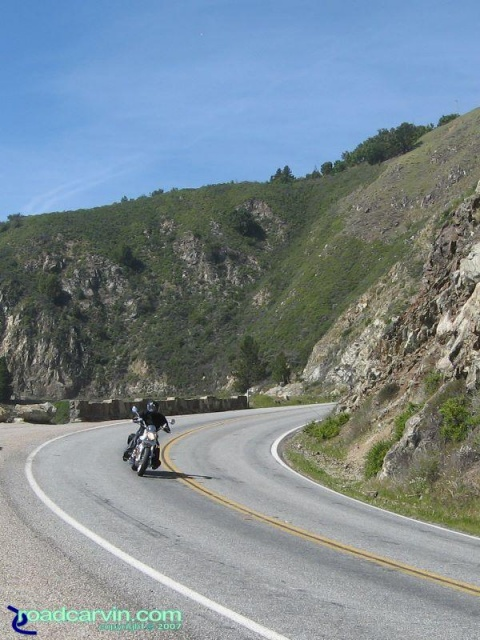 Harley-Davidson Street Rod on Highway 1