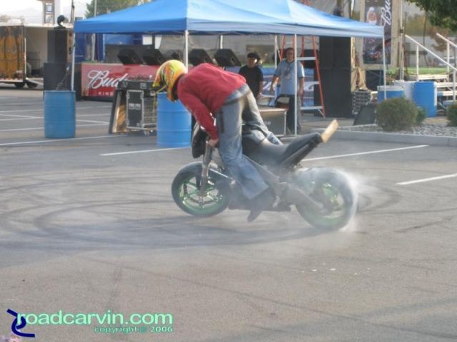 Stunt rider at Carson City HD