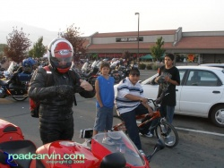 Carson City H-D Scene - Kids admiring dwight's CBR954RR