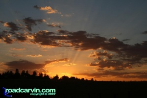 Friday Photo  - Sunburst over Pine Grove (II)