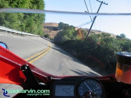 Canon S80 on SportBikeCam Mount - Crow Canyon Rd: Action photo taken on Crow Canyon Road in Castro Valley, CA using Canon S80 digital camera mounted on a SportBikeCam mount.