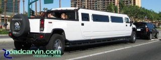 Too Big?: Nothing quite like a Hummer H2 SUT stretch Limo.