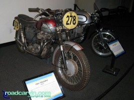 McQueen Triumph and Norton Manx: Steve McQueen's 1964 Triumph he rode in a trials event and a very cool 1953 Norton Manx.