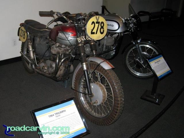 McQueen Triumph and Norton Manx