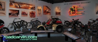 Otis Chandler Gallery I: A panoramic view of the Otis Chandler Gallery display at the Petersen Museum.