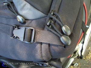 Lowepro Slingshot 200 All Weather Backpack Access Flap Zippers and Pull Strings (II)