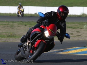 Mike on Buell 1125CR through turn 9a @ Buell Inside Pass Track Day Infineon