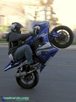 R6 Wheelie: A very nice wheelie on a Yamaha R6.