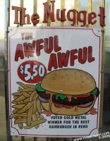 The Nugget Diner - Sign: With a sign like that, how could I resist?