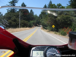 Canon S80 on SportBikeCam Mount: Photo of Hwy 35 (Skyline) going North from HWY 9. I'll experiment with the zoom to narrow the field of view.
