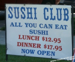 The Sushi Club - Reno - A welcome sign