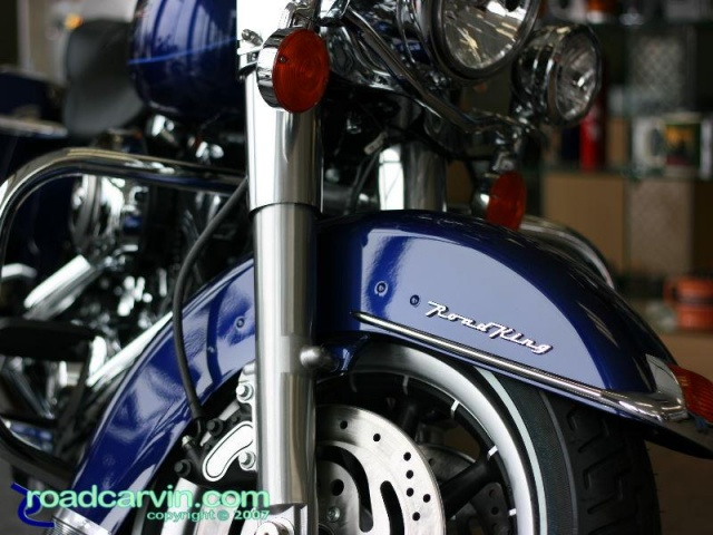 Blue 2007 Road King
